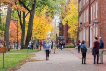 44089095 - blurred background of harvard yard, old heart of harvard university campus, on a beautiful fall day.