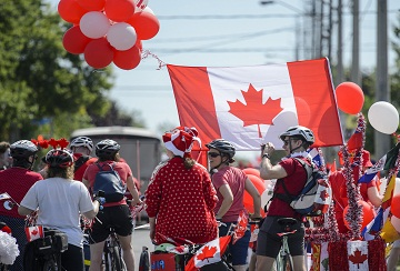 Community members take part in the East York Canada Day Parade in Toronto, on Monday, July 1, 2019. THE CANADIAN PRESS/Andrew Lahodynskyj