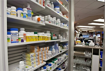 A shelf of drugs at a pharmacy Thursday, March 8, 2012 in Quebec City.  THE CANADIAN PRESS/Jacques Boissinot